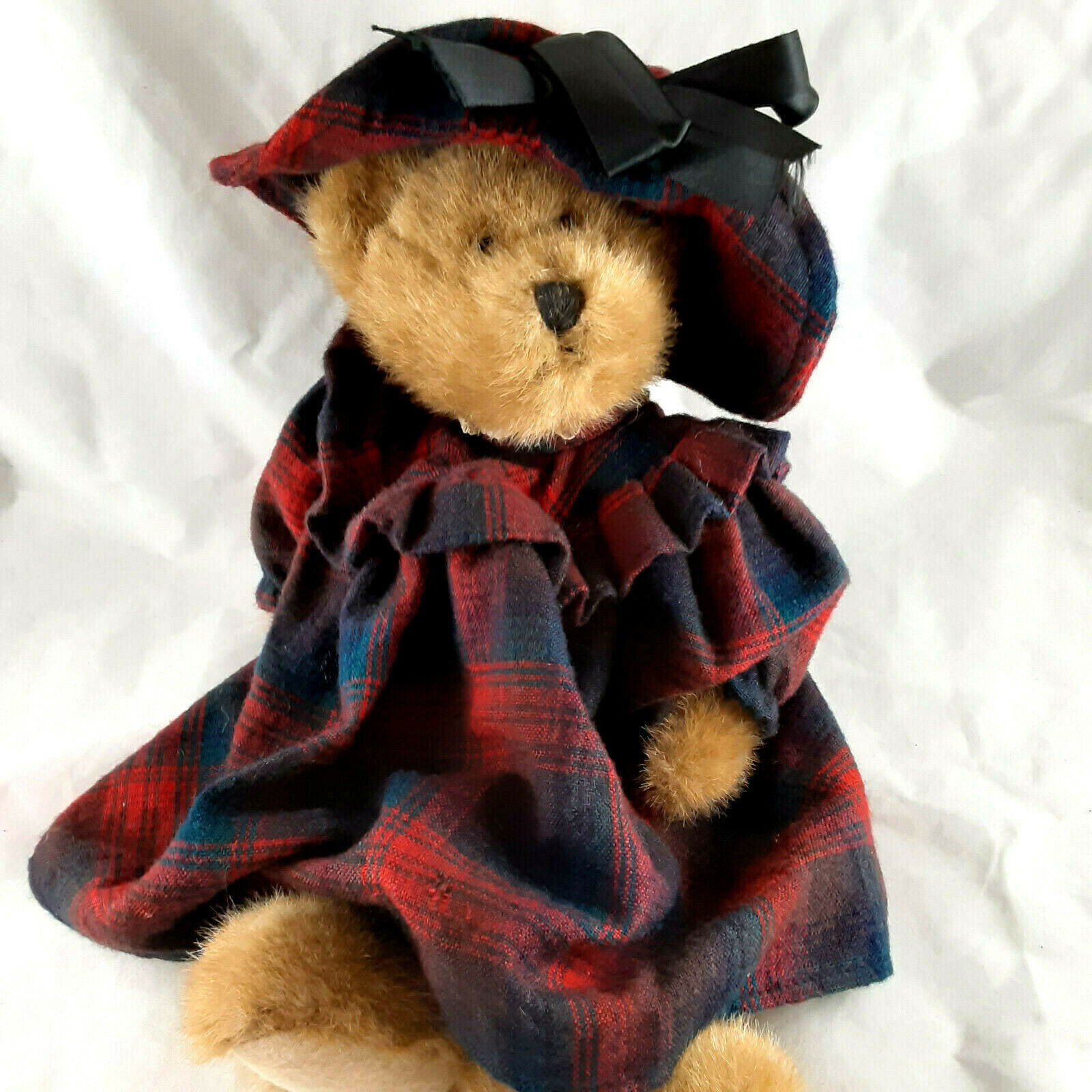 Primary image for Vintage Boyd's Collection Bear JB Bean Series Christmas Tartan Dress 1985-1997