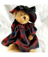 Vintage Boyd's Collection Bear JB Bean Series Christmas Tartan Dress 198... - $19.99