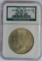 1922 MS 64 PEACE BINION COLLECTION NGC  - $103.00