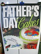"""Vintage 1997 Dairy Queen Fathers Day Cakes Poster 31"""" X 44"""" Ice Cream-Blizzards! - $29.95"""