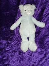 Animal Adventure 2012 Stuffed Plush Blue Teddy Bear Satin Nose Feet Bean... - $79.19
