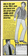 1970 The King-Size Co Brockton MA Print Ad This is the Age of the Tall Man - $10.69