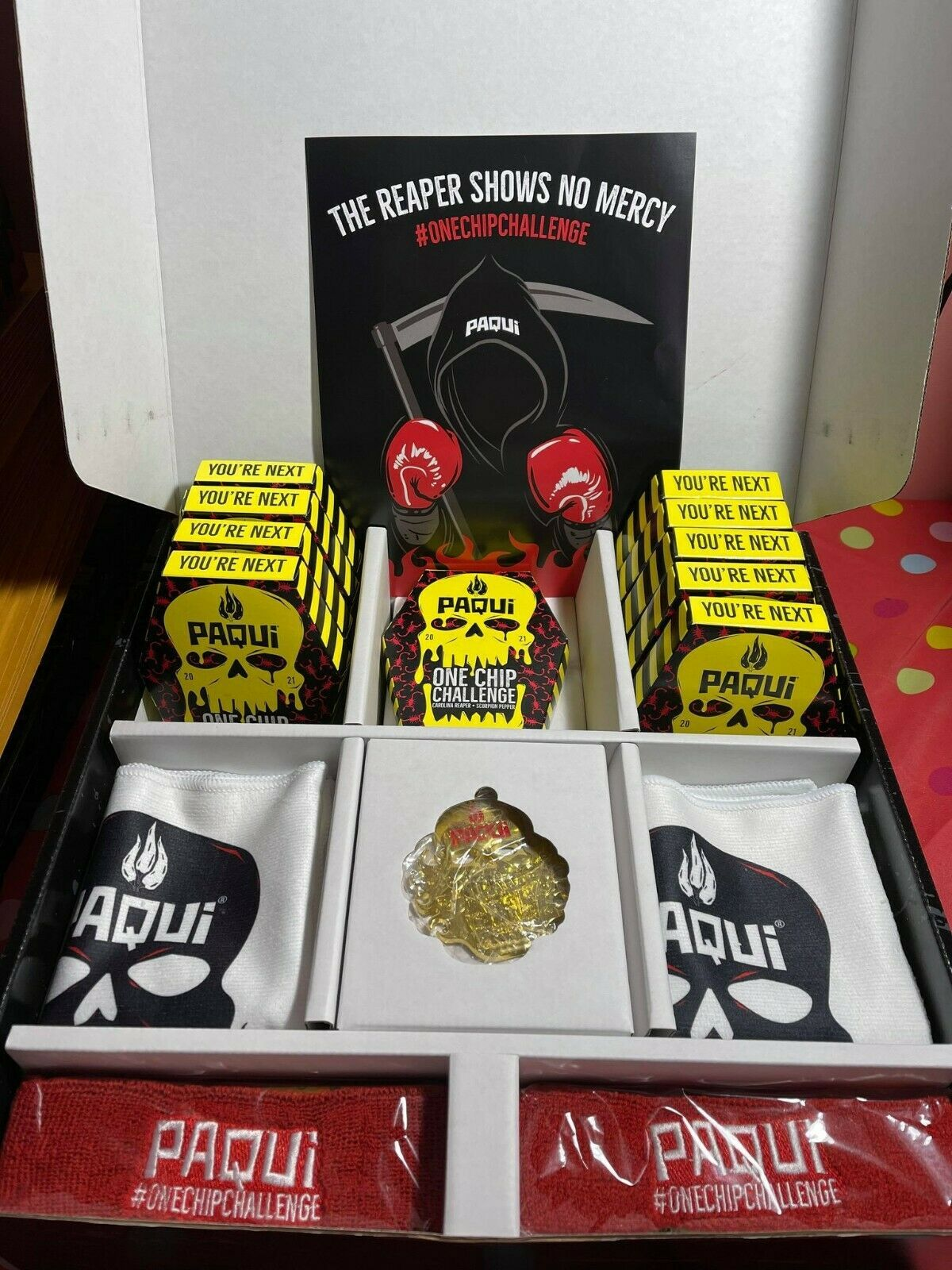 PAQUI 2021 ONE CHIP CHALLENGE  10 CHIPS WITH COLLECTOR BOX 2020 AS PHOTO