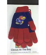 University of Kansas Jayhawks NCAA / Knit Winter Stretch Gloves Texting ... - $14.09