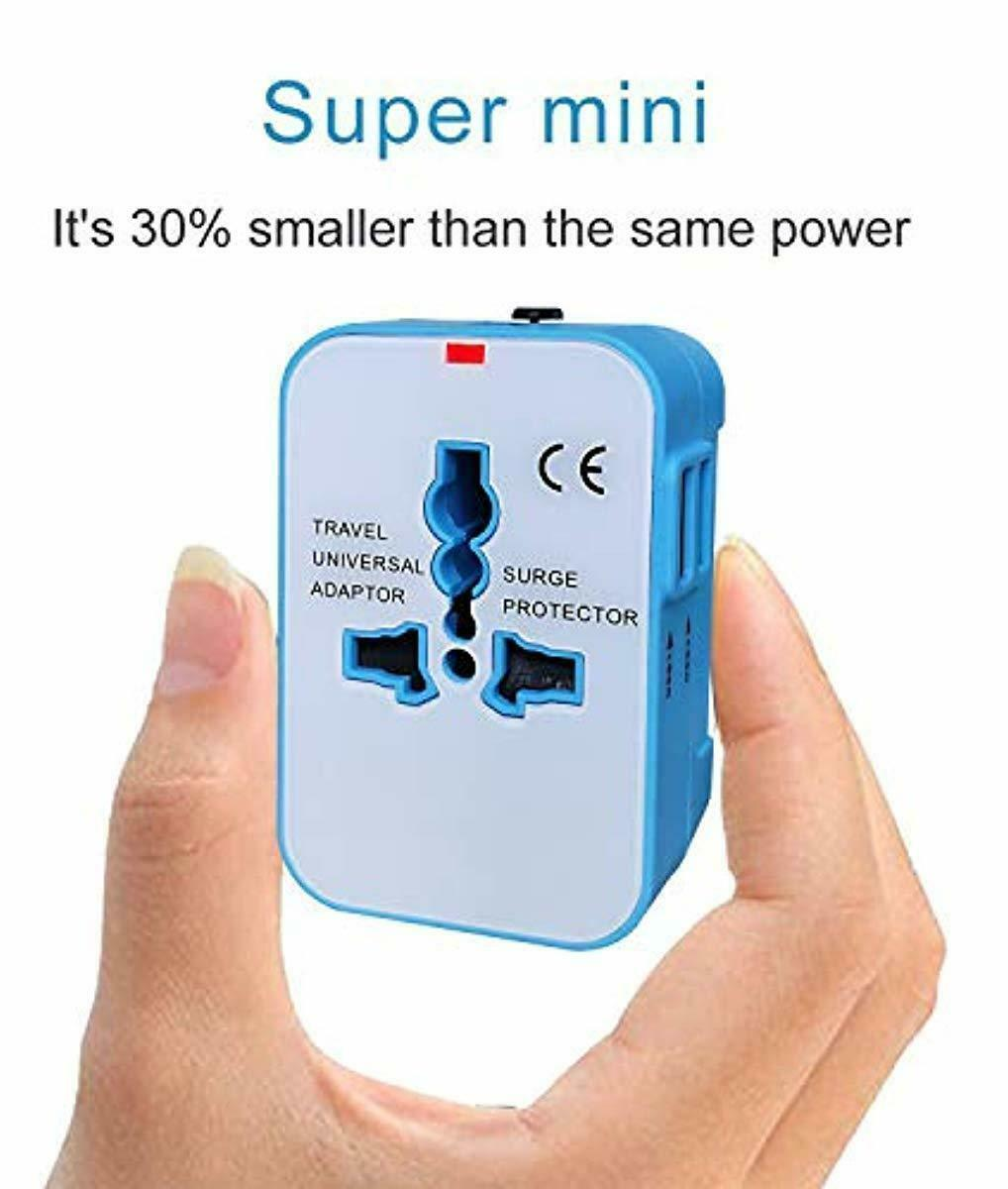 Travel Adapter USB Wall Charger AC Power Plug Adapter for Cell Phone Laptop New