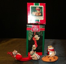 Hallmark Handcrafted Ornaments Friendship Line & Chocolate Chipmunk AA-191794 Co image 2