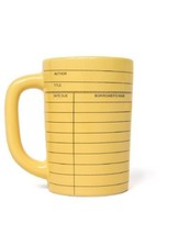 Out of Print Library Card Mug - $14.57