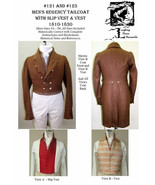 Men's Regency Tailcoat Dress Coat Slip Vest 1810-1830 Sewing Pattern #Lm... - $28.00