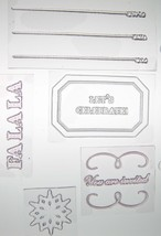Martha Stewart Clear Acrylic Stamps HOLIDAY INVITATION Cards Scrapbooking - $7.37