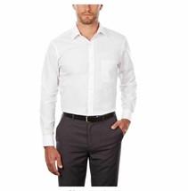 Van Heusen Dress Shirt Regular Fit Poplin Wrinkle Free White 18 1/2 Neck... - $28.04