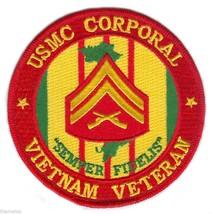 MARINE CORPS CORPORAL  VIETNAM VETERAN USMC EMBROIDERED MILITARY PATCH - $17.14