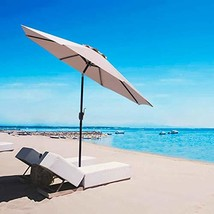 SUNNYARD 9 Ft Aluminum Patio Umbrella Outdoor Market Table Umbrella with... - £32.24 GBP