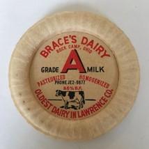 BRACE'S DAIRY GRADE A MILK CAP OHIO LAWRENCE CO - $12.99