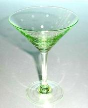 Kate Spade Larabee Dot Pop Green Martini Mini Tini Crystal Glass New - $32.90