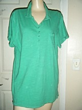 OLD NAVY GREEN COTTON SHORT SLEEVE POLO STYLE TOP SIZE XL - $16.44