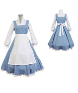 Disney Beauty and the Beast Belle Maid Dress Cosplay Costume - $54.54