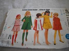 Vintage Girls' Short or Long Sleeve Dress Pattern Butterick 5041 - $7.00