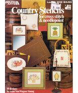 CROSS STITCH & NEEDLEPOINT COUNTRY STENCILS LEISURE ARTS 209 NOS - $4.95