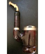 Antique Vintage German Austrian Silver Pipe 1904* RARE  - $120.00