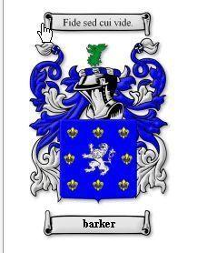 Barker Coat of Arms Barker Family Crest History Print Bonanza
