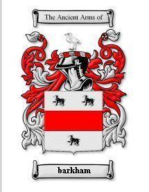 Barkham Coat of Arms Barkham Family Crest History Print Bonanza
