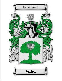 Barlow Coat of Arms Barlow Family Crest History Print Bonanza
