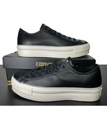 Converse Chuck Taylor All Star Lift Platform Ox Sneaker Leather Black 55... - $65.00