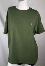 Polo ralph lauren mens T Shirt small dark green 100% cotton short sleeve - $14.24