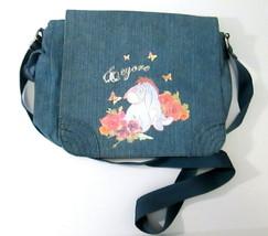 Disney EEYORE Mail Bag Purse Blue Denim Denim  - $14.50