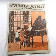 Easy Duets Music Book Easy Keys Vol II Instrumental 1915 10 Songs 1st 2n... - $14.75