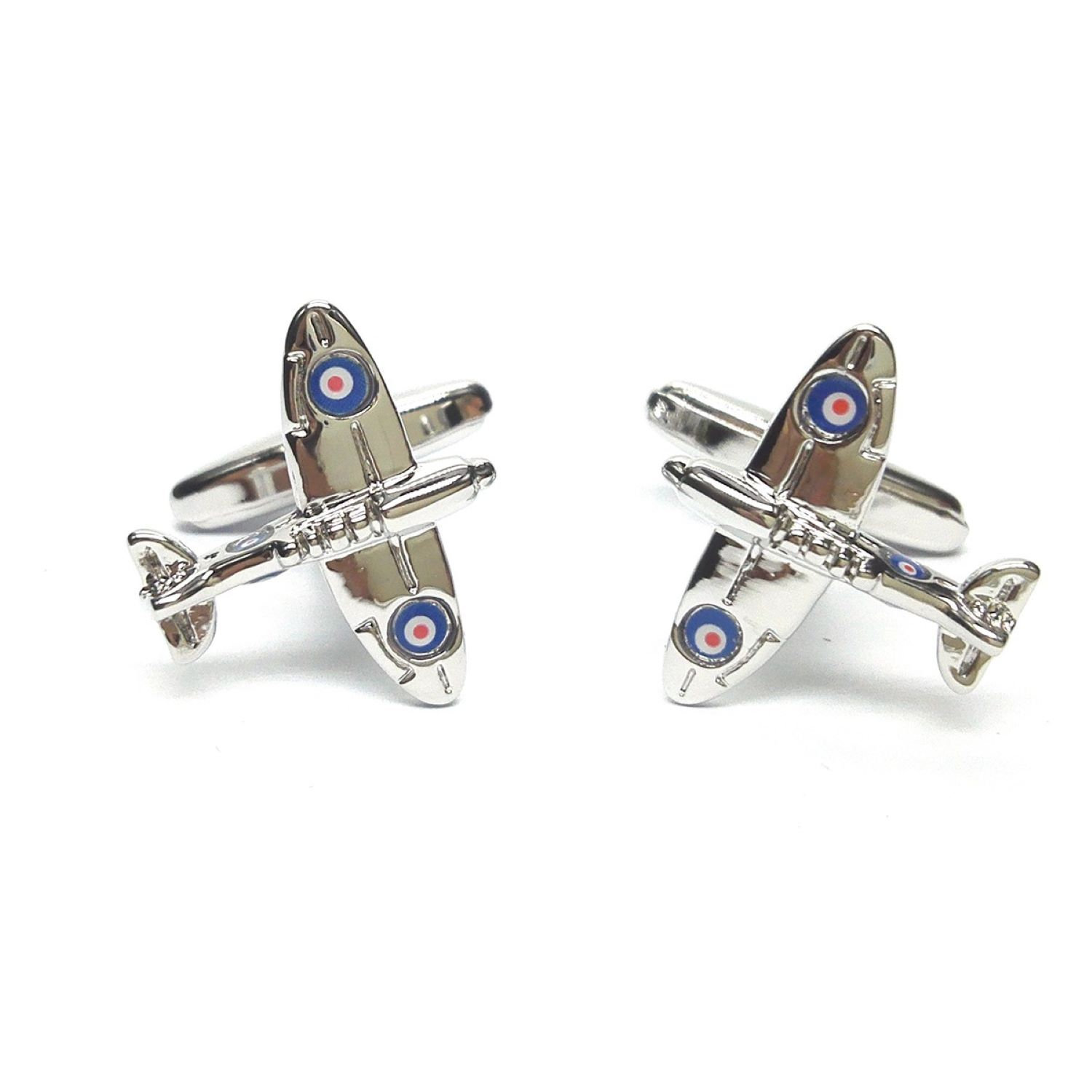 silver spitfire mk11 Cufflinks design Cufflinks in gift box cuff links