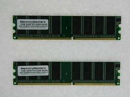 2GB 2x 1GB PC3200 DDR Apple Powermac G5 Memoria M9654G / Un