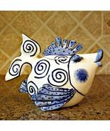 Blue Ocean Fish Teapot Collectible Decorative Home Décor Blue Sky Clayworks - $56.99