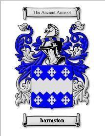 Barmston Coat of Arms Barmston Family Crest History Print Bonanza