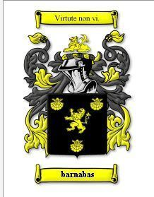 Barnabas Coat of Arms Barnabas Family Crest History Print Bonanza