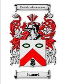 Barnard Coat of Arms Barnard Family Crest History Print Bonanza