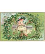 The Dear Little Shamrock 1909 Vintage Post Card - $6.00