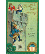 Kissing The Blarney Stone vintage 1909 Post Card - $7.00
