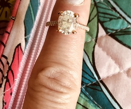 14k Solid Rose Gold Brilliant Oval Cut Diamond Engagement Ring - £4,604.35 GBP
