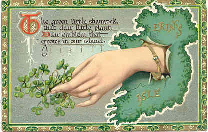 The Green Little Shamrock 1912 Vintage Post Card