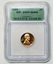 1964 PR69 DCAM Lincoln Cent Proof ICG Lot A 126 image 1