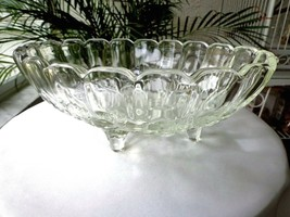 "Indiana Glass Garland Clear Centerpiece Oval Bowl 8 1/2"" x 12"" - $27.71"