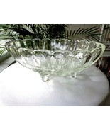 """Indiana Glass Garland Clear Centerpiece Oval Bowl 8 1/2"""" x 12"""" - $11.88"""
