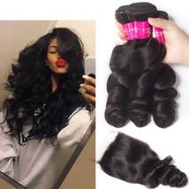 Hair Brazilian Hair Weave Bundles With Closure Remy Human Hair 3 Bundles - $74.25+