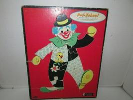 Vintage Puzzle in Ablage Rahmen Clown Vorschule #4421 Whitman 11 X 14 1962 L183 - $7.82