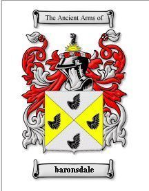 Baronsdale Coat of Arms Baronsdale Family History Print Bonanza