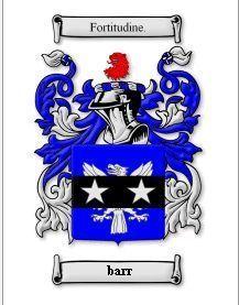 Barr Coat of Arms Barr Family Crest History Print Bonanza