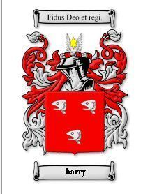 Barry Coat of Arms Barry Family Crest History Print Bonanza