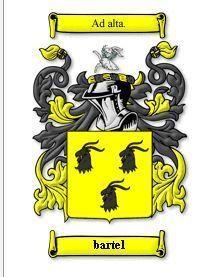 Bartel Coat of Arms Bartel Family Crest History Print Bonanza