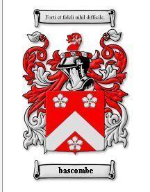 BASCOMBE Coat of Arms BASCOMBE Family Crest History Print Bonanza